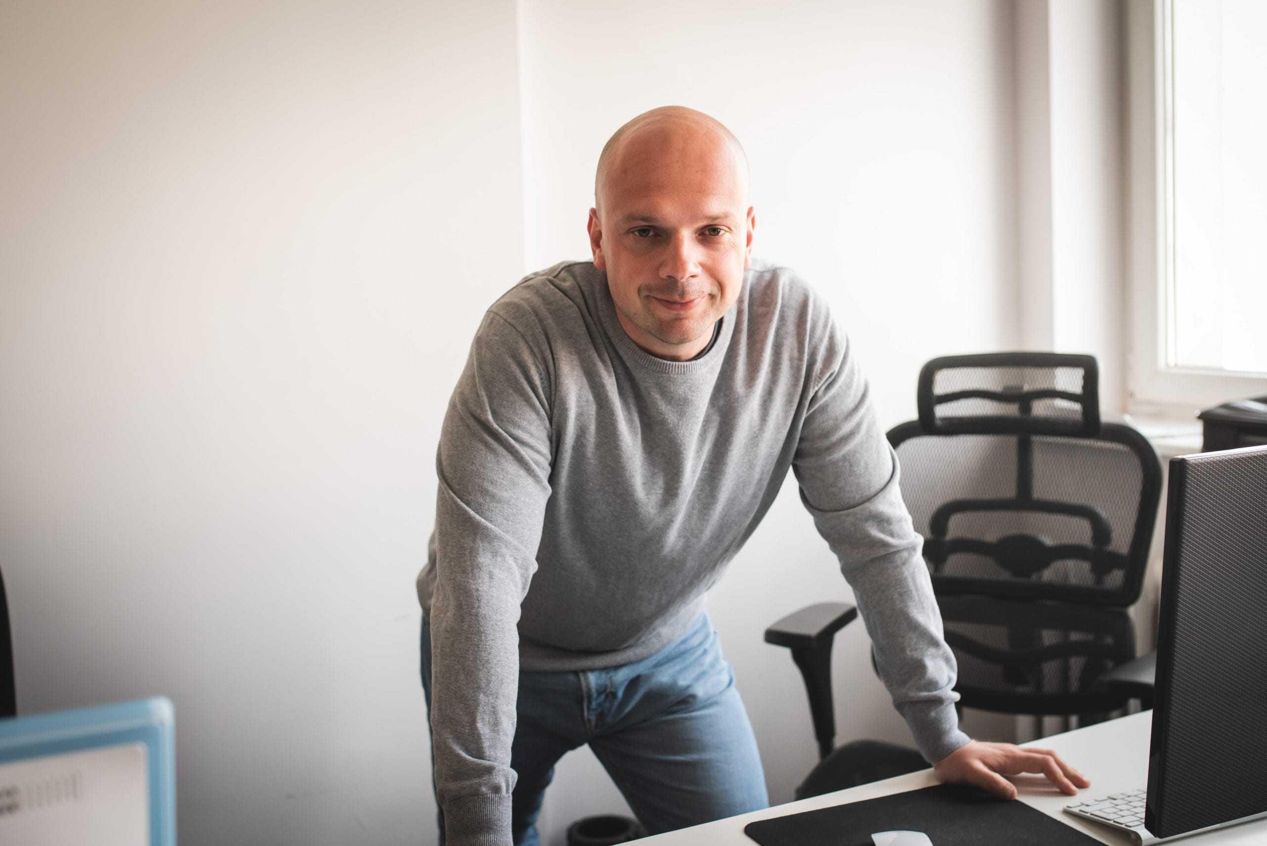 Piotr Weppe w pracy